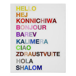 Many ways of saying Hello Poster