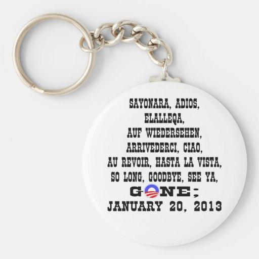 Many Ways To Say Goodbye To President Obama Basic Round Button Keychain