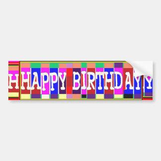 MANY ways to say HAPPY Birthday: by Naveen Bumper Sticker