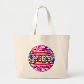 MANY ways to say HAPPY Birthday: by Naveen Large Tote Bag