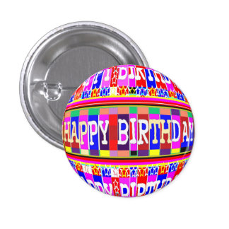 MANY ways to say HAPPY Birthday Pinback Button