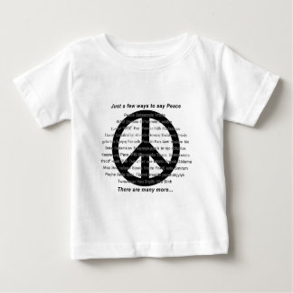 Many ways to say peace with symbol baby T-Shirt