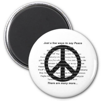 Many ways to say peace with symbol magnet