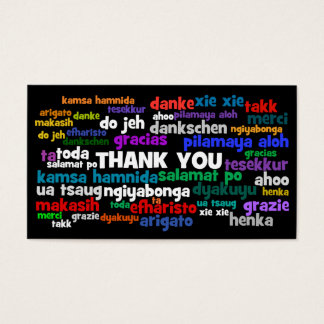Many Ways to Say Thanks Note Business Card