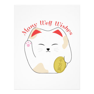 Many Well Wishes Letterhead Design