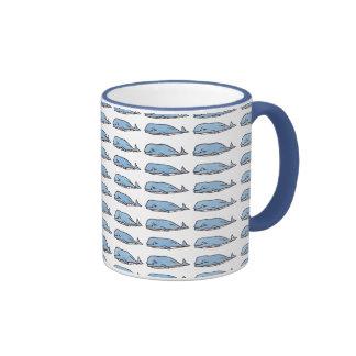 many whales ringer coffee mug