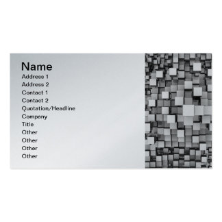 Many White Reflective Cubes Business Cards