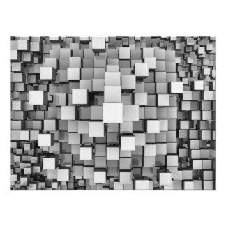 Many White Reflective Cubes Photo Print