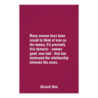 Many Women Have Been Raised To Think of Men … Poster