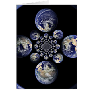 Many worlds of friends greeting card