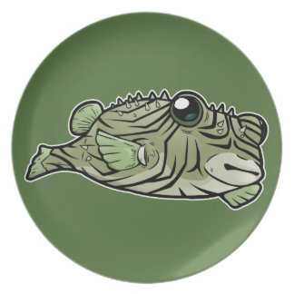 Manystriped Blowfish Dinner Plate