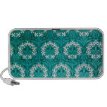 MANYTHANKS TEAL FLORAL WHITE YELLOW WREATHS PATTER TRAVELLING SPEAKER