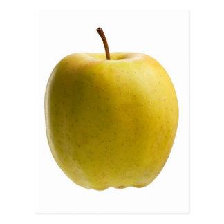 Manzana amarilla tarjeta postal