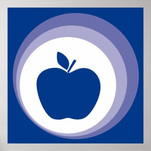 manzana azul póster