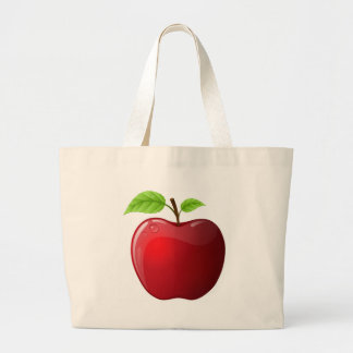 manzana bolsa tela grande