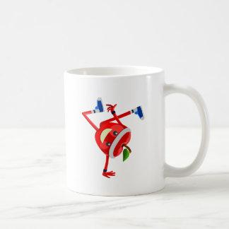 manzana breakdancing tazas de café