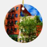 Manzana colorida de NYC Ornamento Para Reyes Magos