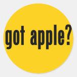 ¿manzana conseguida? pegatinas redondas