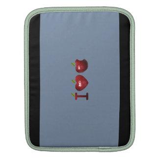 manzana de amor libre del rojo i del diseño de la  fundas para iPads