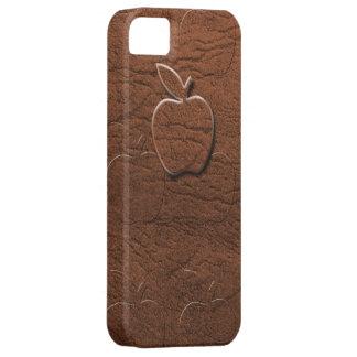 Manzana de cuero de Brown iPhone 5 Cárcasas