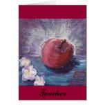 manzana de la primavera, profesor