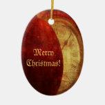 Manzana de las Felices Navidad y ornamento del Adorno
