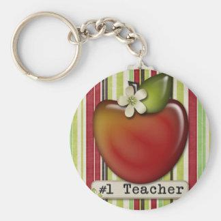 manzana del profesor #1 llaveros personalizados