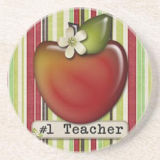 manzana del profesor #1 posavasos personalizados