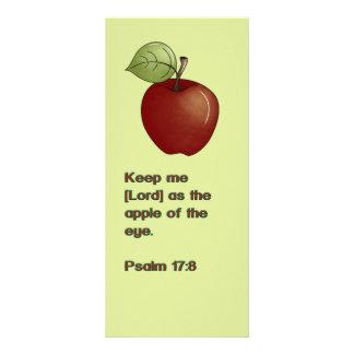 """Manzana del salmo de la señal de la escritura del  folleto publicitario 4"""" x 9"""""""