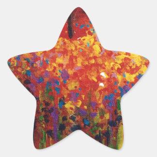 Manzana del vuelo calcomanía forma de estrellae