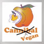 manzana divertida del vegano posters