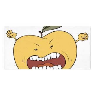 Manzana furiosa tarjetas fotográficas