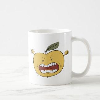 Manzana furiosa taza básica blanca