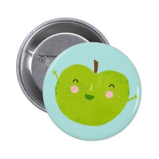 manzana jovial pin redondo de 2 pulgadas