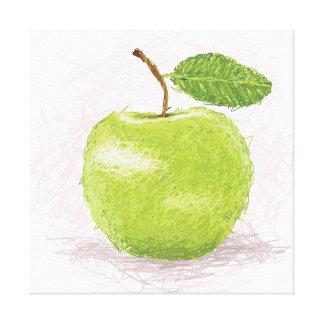 manzana lienzo envuelto para galerias