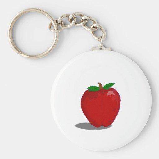 manzana llavero redondo tipo pin