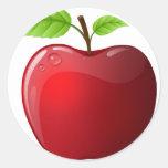 manzana pegatinas
