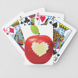 Manzana roja bite2 baraja cartas de poker