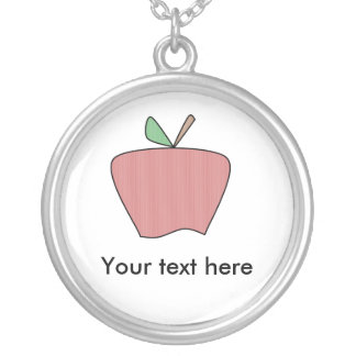 Manzana roja del país collar