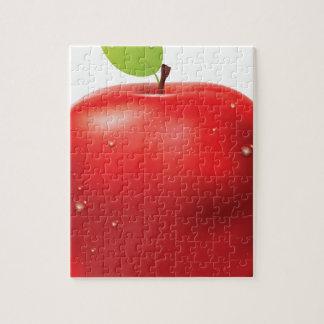 Manzana roja fresca puzzle