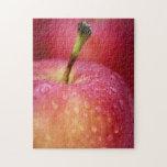 Manzana roja rompecabeza con fotos