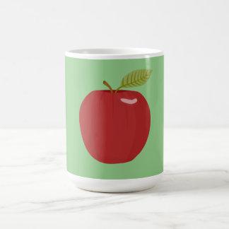 manzana roja taza