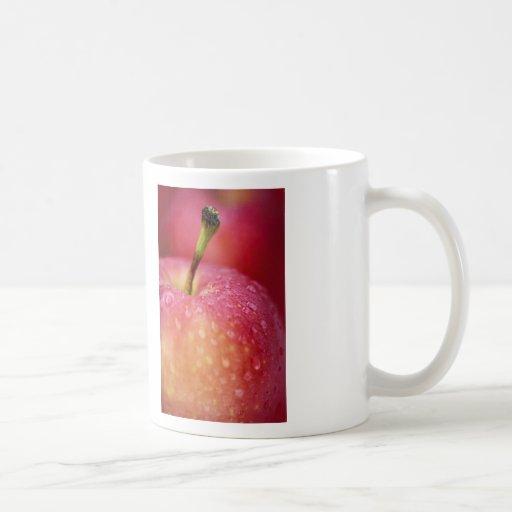 Manzana roja tazas de café