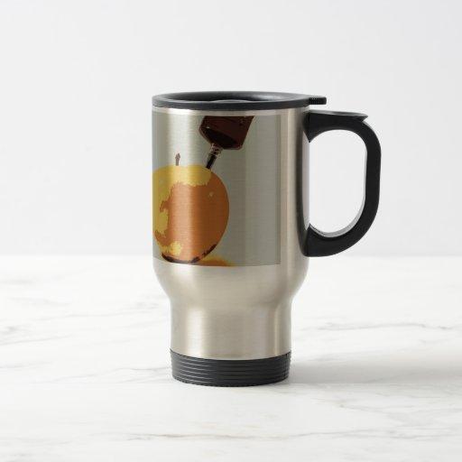 manzana transgénica taza de viaje de acero inoxidable