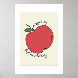 manzana un poster del día