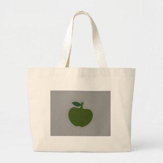 manzana verde bolsa tela grande