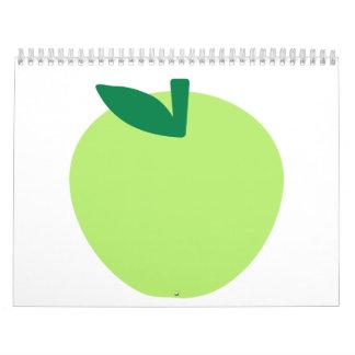 Manzana verde calendarios