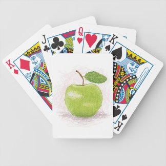 manzana verde cartas de juego