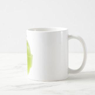 Manzana verde cortada tazas