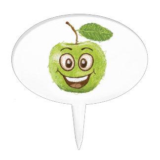 manzana verde feliz palillos de tarta